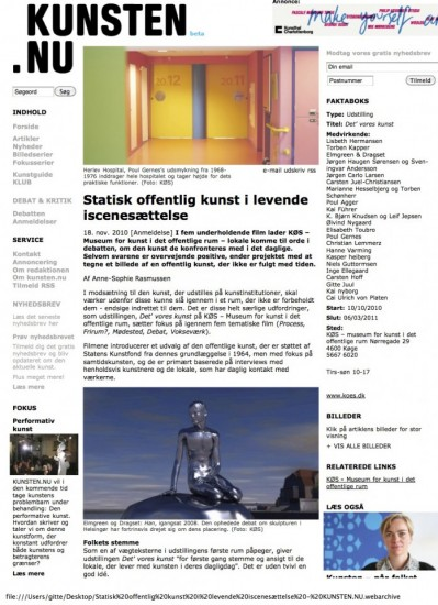 18.11.2010_Statisk offentlig kunst i levende iscenesættelse - KUNSTEN.NU