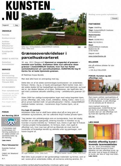 Grænseoverskridelser i parcelhuskvarteret - KUNSTEN