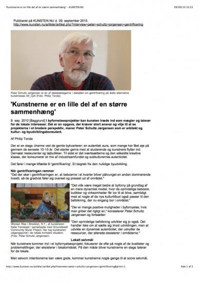 09.09.2010_'Kunstnerne er en lille del af en større sammenhæng' - KUNSTEN.NU