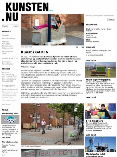 Kunst i GADEN - KUNSTEN