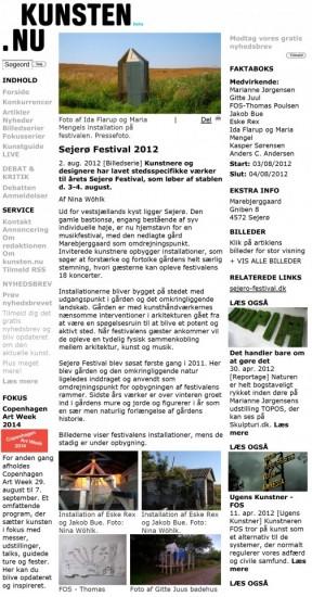 Sejerø Festival 2012 - KUNSTEN