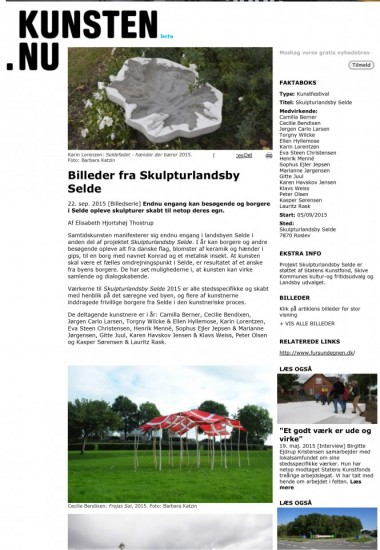 Billeder fra Skulpturlandsby Selde - KUNSTEN_1