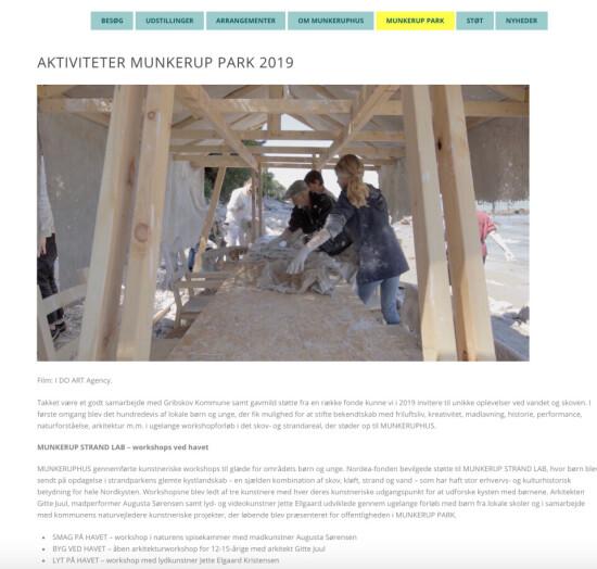 Strandhuset på Munkeruphus' website